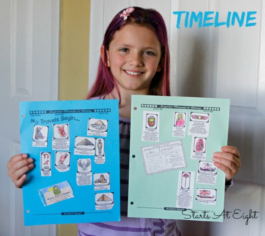 Ancient Egypt Unit Study Timeline from Homeschool in the Woods - Starts At Eight