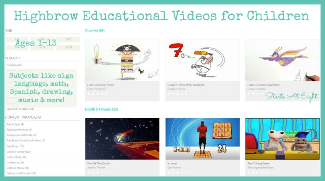 Highbrow Educational Videos for Children - Features from Starts At Eight