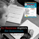 No-Nonsense Algebra for Homeschool