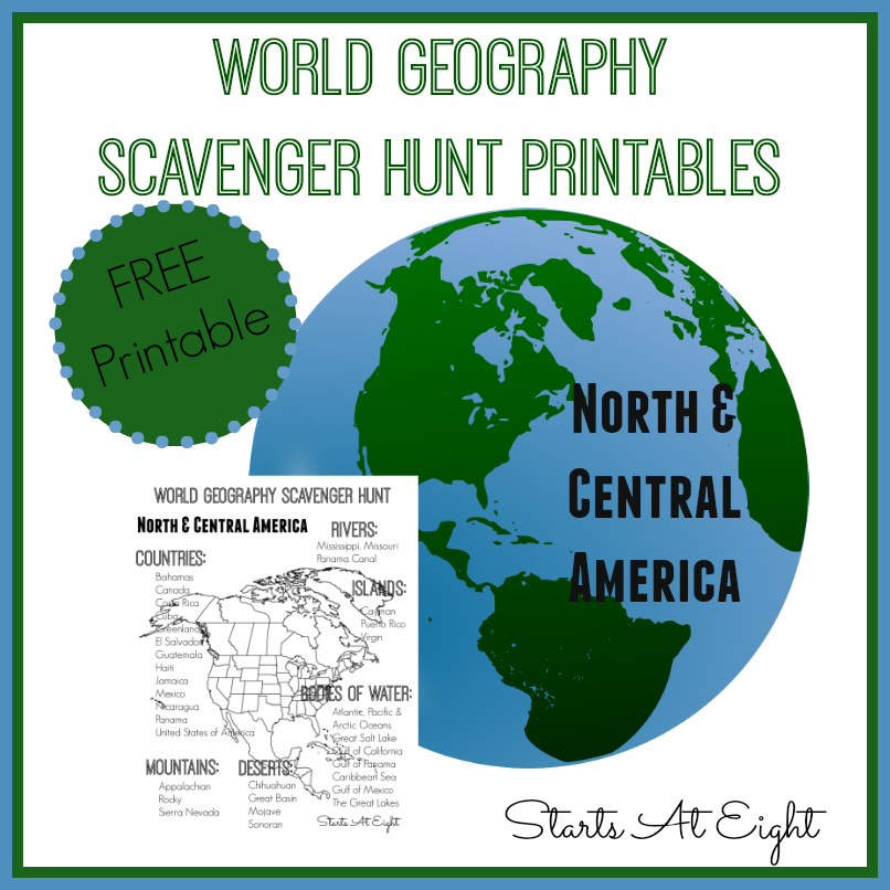 World geography scavenger hunt north central america free world geography scavenger hunt north central america free printable startsateight gumiabroncs Gallery