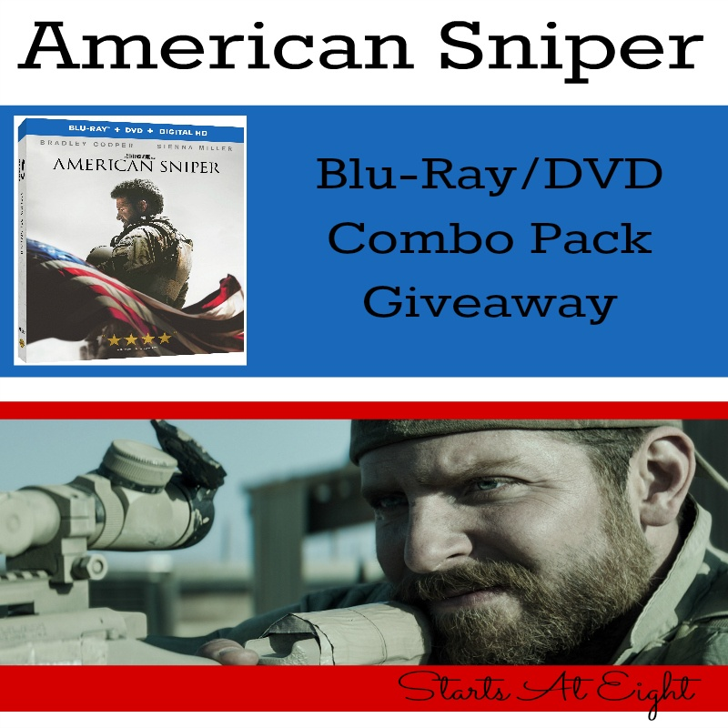 American Sniper Blu-Ray/DVD Combo Pack Giveaway