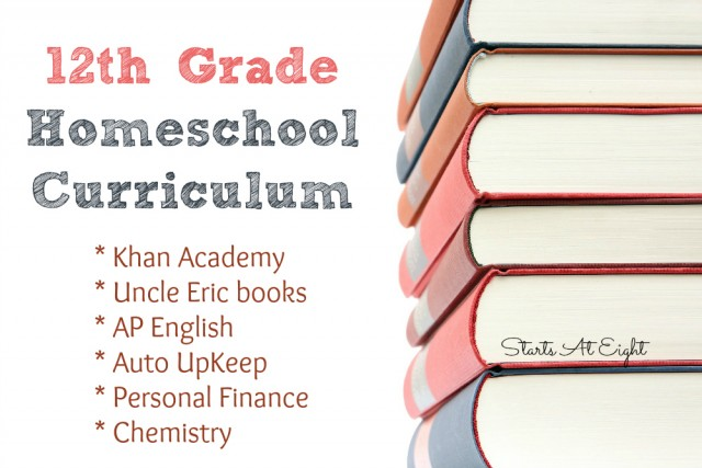 12th Grade Homeschool Curriculum from Starts At Eight