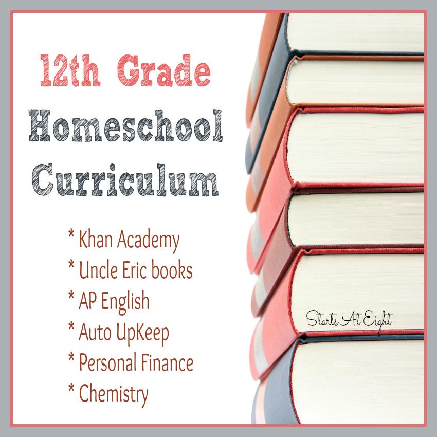 12th Grade Homeschool Curriculum Startsateight