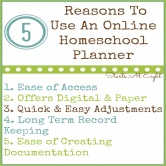5 Reasons To Use An Online Homeschool Planner