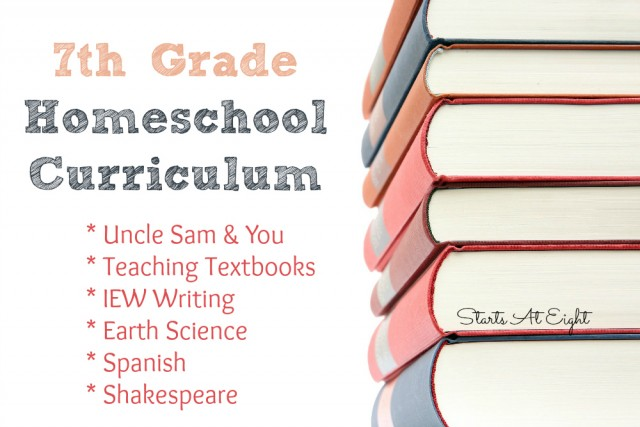 7th Grade Homeschool Curriculum - StartsAtEight