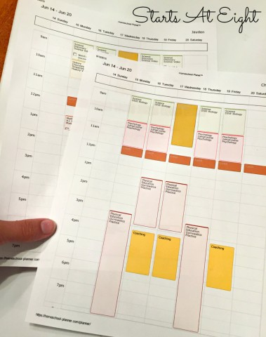 Color Coding Print Outs from Homeschool Planet