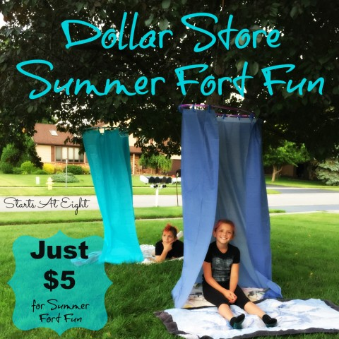Dollar Store Summer Fort Fun from Starts At Eight