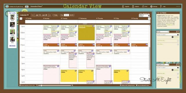 Homeschool Planet Calendar View