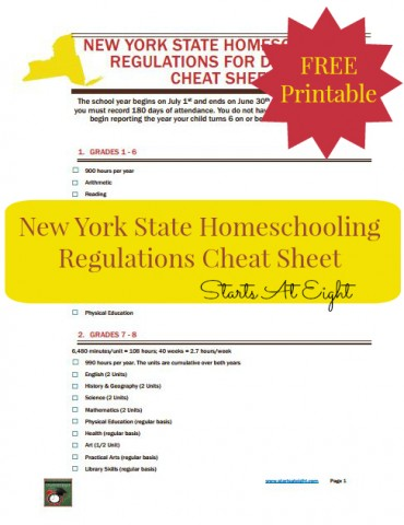 New York State Homeschool Paperwork StartsAtEight