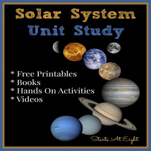 Solar System Unit Study from Starts At Eight