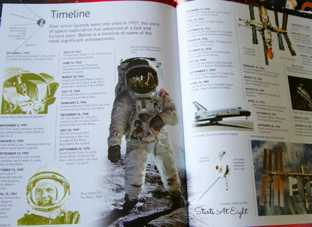 Space Exploration Timeline from DK's Eyewitness Space Exploration Book