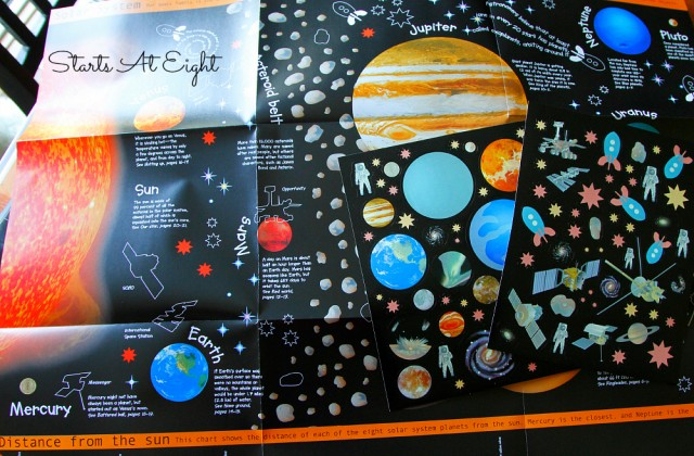 Stars and Planets Glow in the Dark Poster from DK