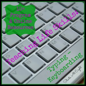 Teaching Life Skills: Typing - Keyboarding Resources from Starts At Eight