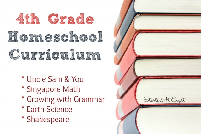 4th Grade Homeschool Curriculum from Starts At Eight