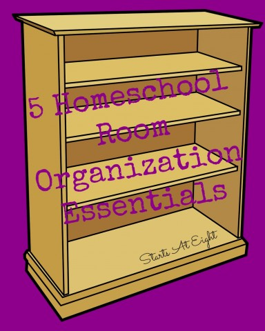 5 Homeschool Room Organization Essentials from Starts At Eight