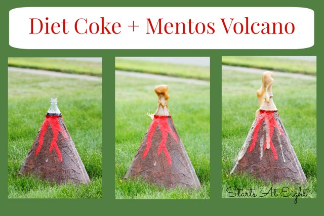 Diet Coke and Mentos Volcano