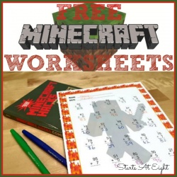 FREE Minecraft Themed Worksheets