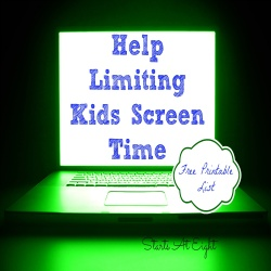 Help Limiting Kids Screen Time with FREE Printable List