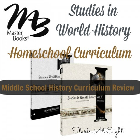 Masterbooks Studies in World History Homeschool Curriculum Review from Starts At Eight