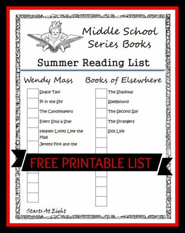 High school book reading list