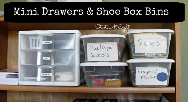 Mini Drawers & Shoe Box Bins