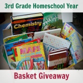 3rd Grade Homeschool Year in a Basket Giveaway