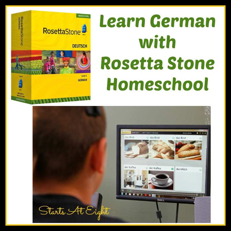 Learn German with Rosetta Stone Homeschool from Starts At Eight Homeschool