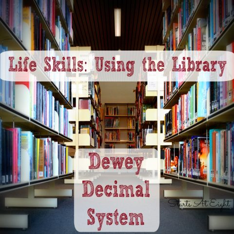 Life Skills Using the Library - Dewey Decimal System from Starts At Eight