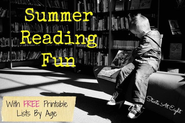 Summer Reading Fun With FREE Printable Lists from Starts At Eight