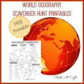 World Geography Scavenger Hunt: Africa ~ FREE Printable