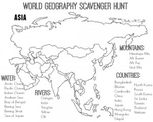 Printables World Geography Worksheet world geography scavenger hunt europe free printable asia from starts at eight
