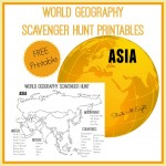 World Geography Scavenger Hunt Printable: Asia from Starts At Eight