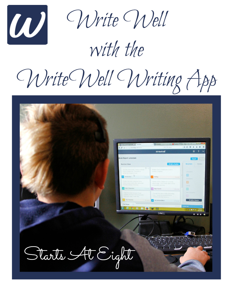 Write Well with the WriteWell Writing App from Starts At Eight