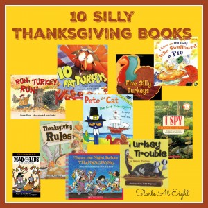 10 Silly Thanksgiving Books from Starts At Eight
