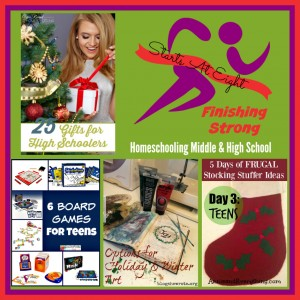 Finishing Strong ~ Homeschooling the Middle & High School Years #71 from Starts At Eight
