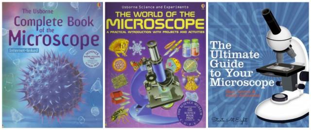 Microscope Book Collage