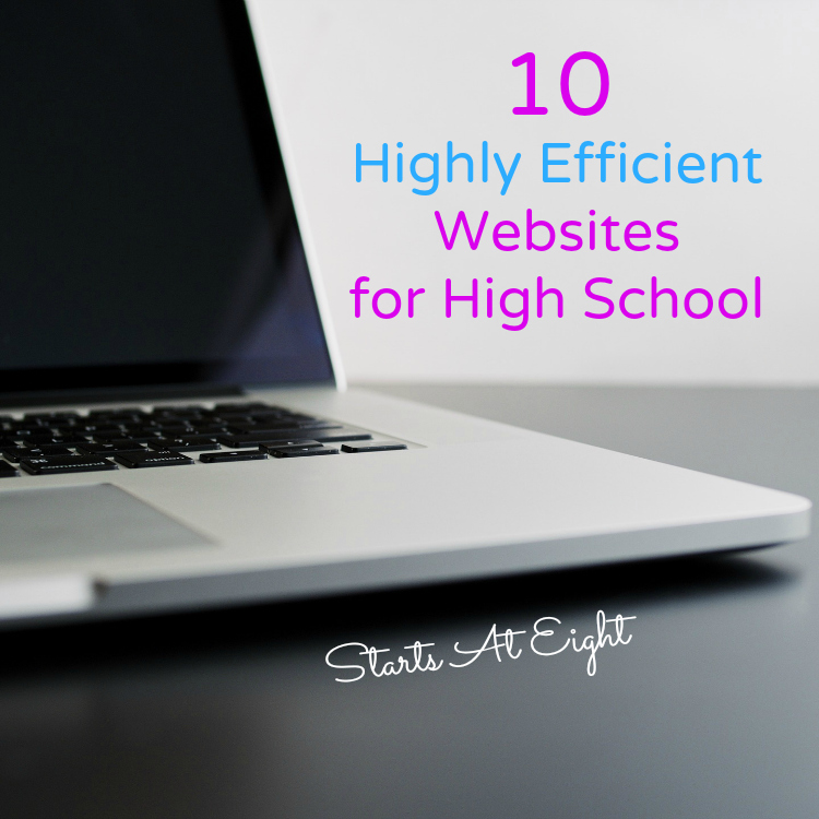 10 Highly Efficient Websites for High School from Starts At Eight