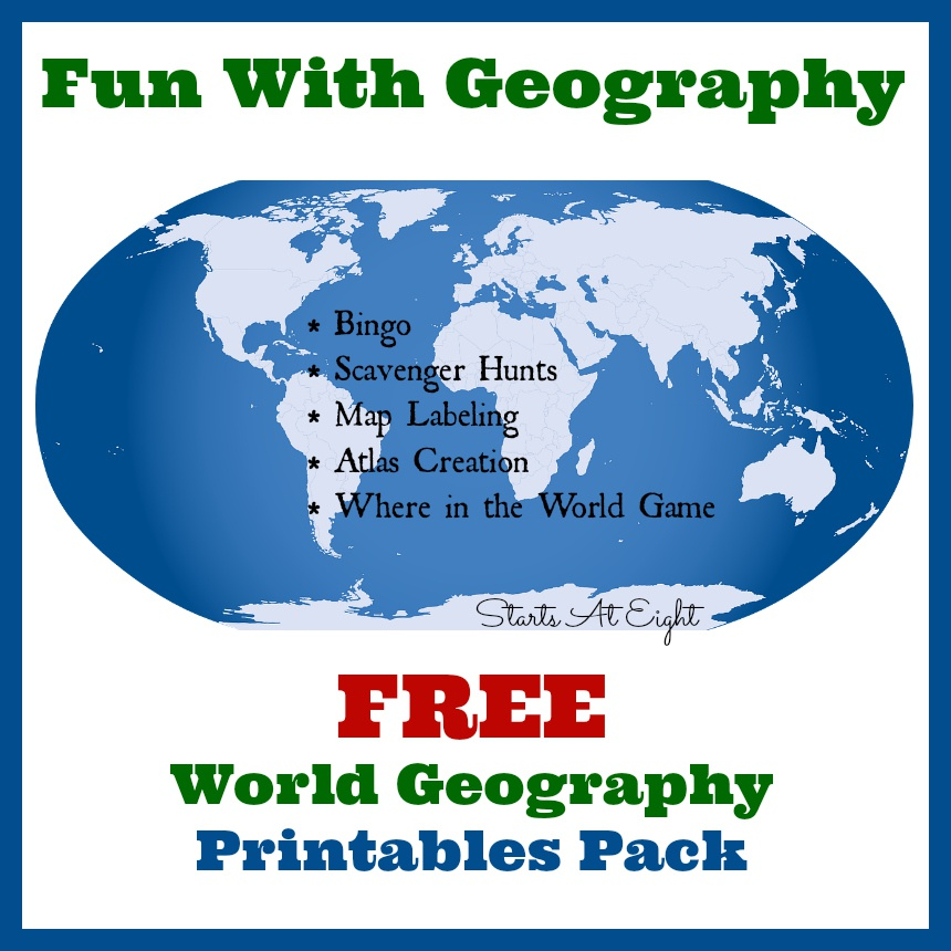 Fun With Geography ~ FREE Geography Printables
