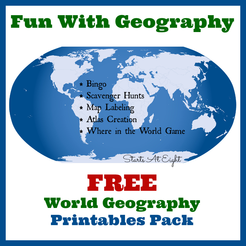 Fun with Geography FREE Geography Printables