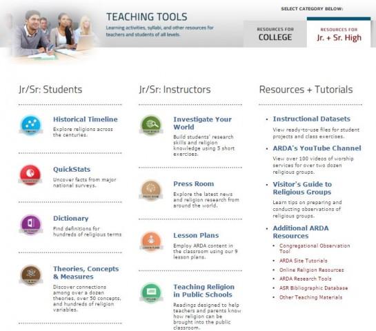 The ARDA Teaching Tools Jr Sr
