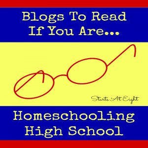 Blogs to Read If You Are Homeschooling High School from Starts At Eight