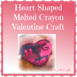 Heart Shaped Melted Crayon Valentine Craft