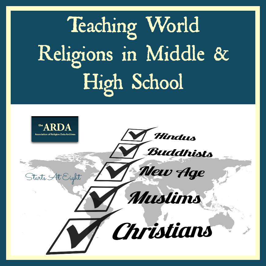 Teaching World Religions in Middle & High School from Starts At Eight