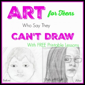 Art for Teens Who Say They Can't Draw from Starts At Eight