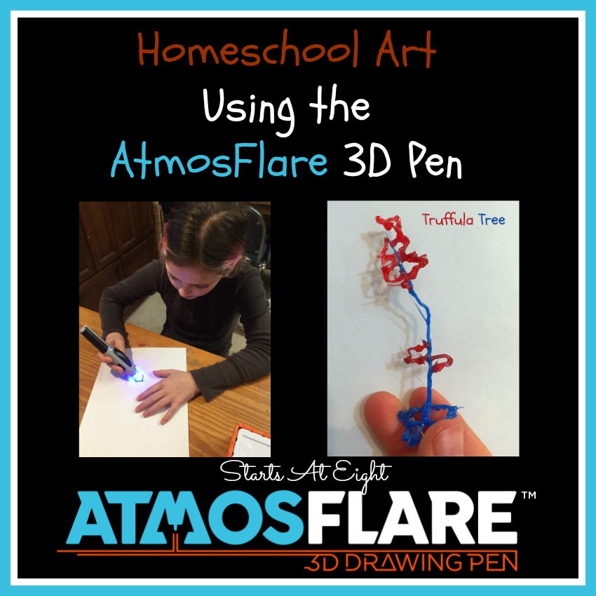 Homeschool Art Using The AtmosFlare 3D Pen from Starts At Eight