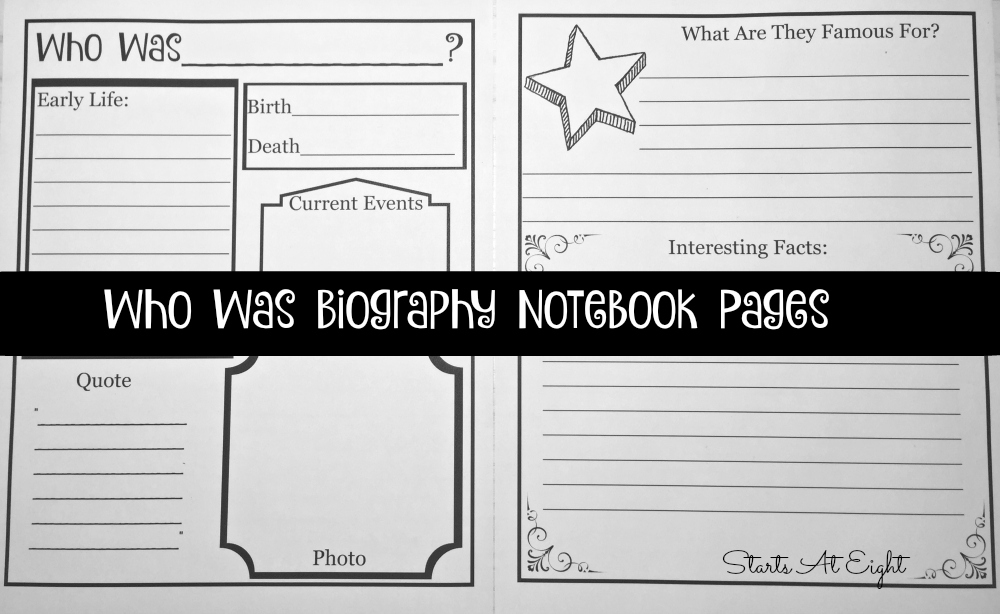 Who Was Biography Notebook Pages 2