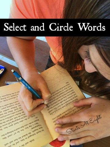 Blackout Poetry Select and Circle Words