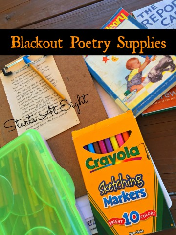 Blackout Poetry Supplies