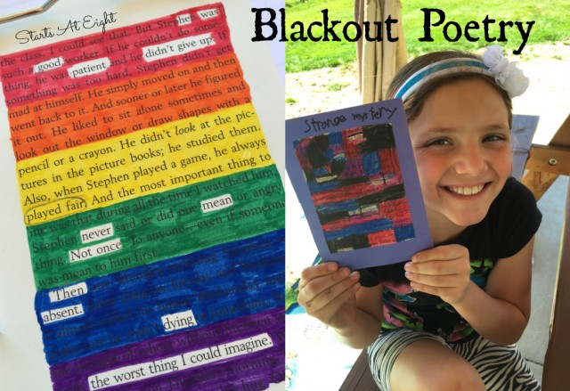 Completed Blackout Poetry