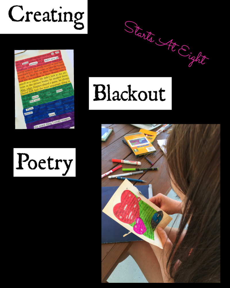 Creating Blackout Poetry from Starts At Eight